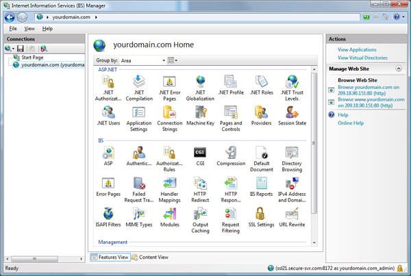 IIS Remote Management
